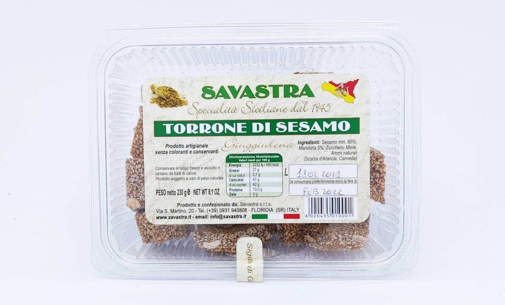 """Torrone Siciliano di Sesamo """"Giuggiulena"""""""