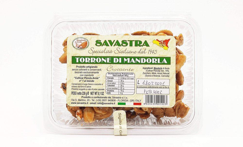 """Torrone Siciliano di Mandorla """"Croccante"""""""